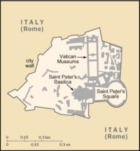 National Map Of Holy See (Vatican City)